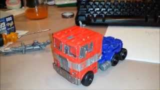 aoe voyager class optimus prime evasion mode custom painted review
