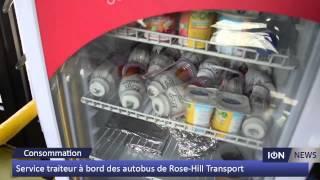 Service traiteur à bord des autobus de Rose-Hill Transport