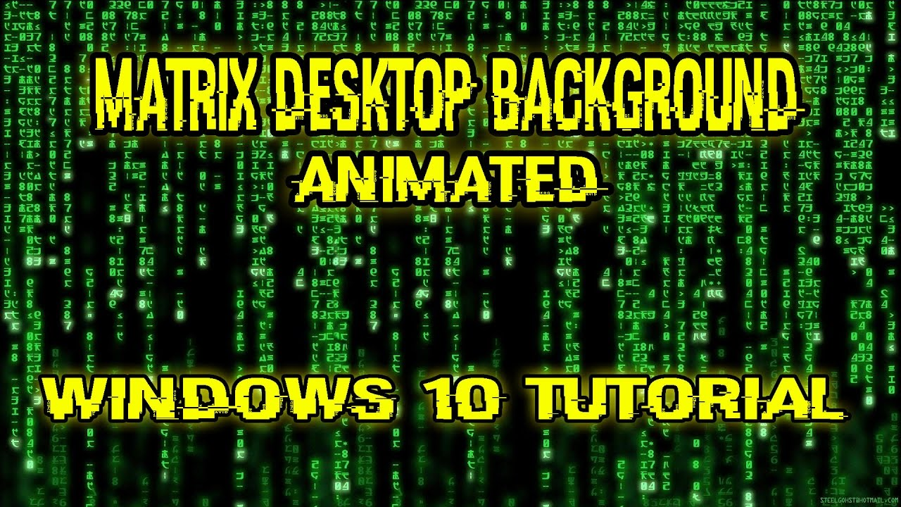 matrix desktop animated - windows 10 [tutorial] (german) - youtube