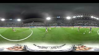 Real Madrid 360º Experience: Santiago Bernabéu Trophy pre-game warm up / Calentamiento del Trofeo SB