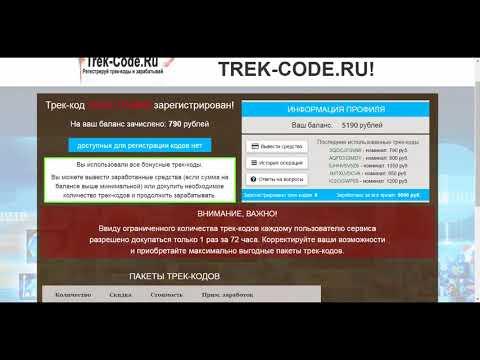 Заработок в интернете от 5000 рублей в день на регистрации трек кодов!из YouTube · Длительность: 13 мин13 с