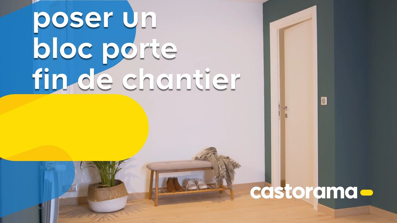 comment poser un bloc porte fin de chantier castorama youtube. Black Bedroom Furniture Sets. Home Design Ideas