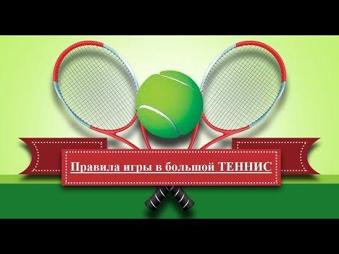 Правила игры в большой теннис - кратко для начинающих