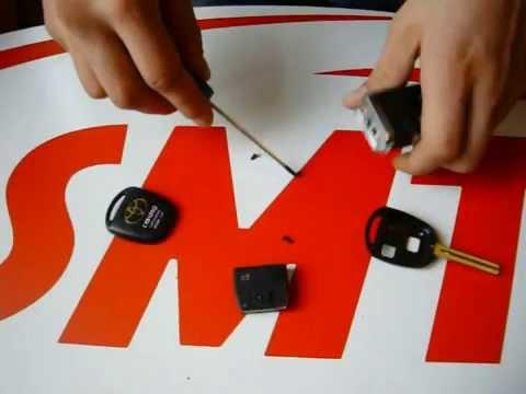 Переделка ключа на выкидной Тойота