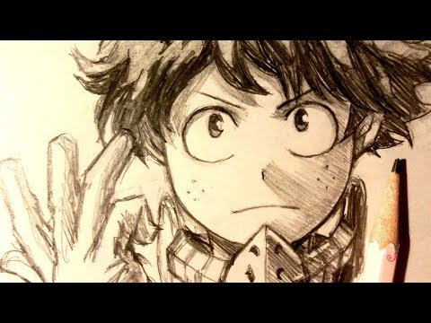 ASMR | Pencil Drawing 89 | Midoriya / Deku (Request)