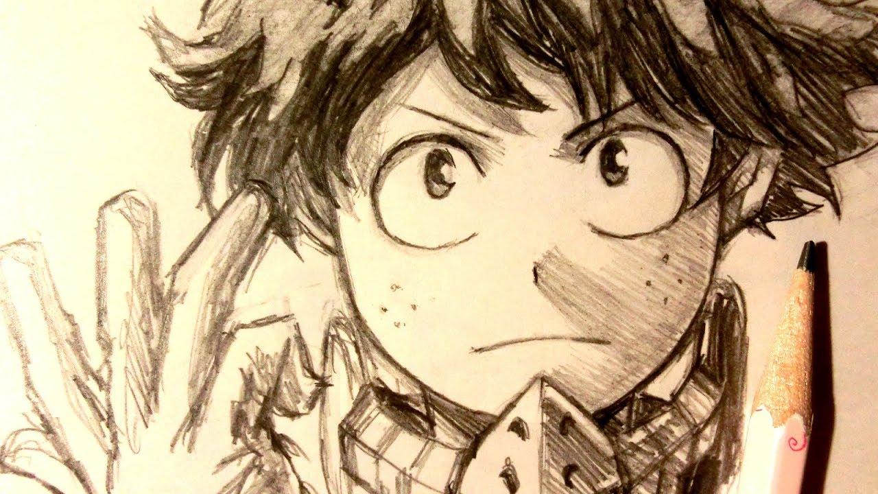 ASMR | Pencil Drawing 89 | Midoriya / Deku (Request) - YouTube