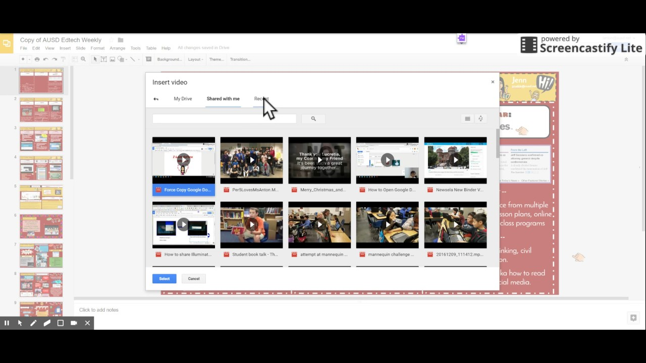 How To Insert A Video From Your Google Drive Into Google Slides