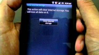 Erase User Data On Sony Xperia S