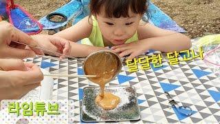 엄마랑 추억의 달고나 만들기 식완 간식 Korean Sugar Candy 'Dalgona'  라임튜브