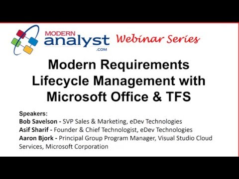 Modern Requirements Lifecycle Management with Microsoft Office and TFS Webinar