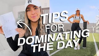 12 DAILY TIPS FOR DOMINATING THE DAY | New Year Tips & Tricks!