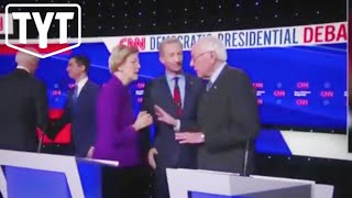 TENSE Moments Between Warren and Sanders at Democratic Debate in Iowa