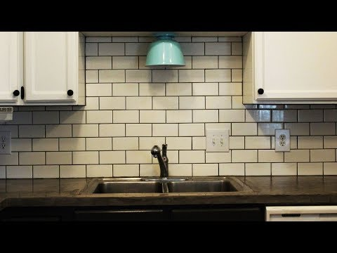 How to install a subway tile kitchen backsplash youtube - How to replace backsplash ...
