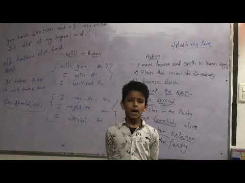 4th class student speech on past day activity in SELF BELIEF ACADEMY GHITORNI (Raghav)