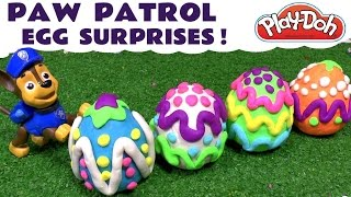 Paw Patrol Play Doh Stop Motion Surprise Egg opening with Thomas and Friends Toy Trains TT4U