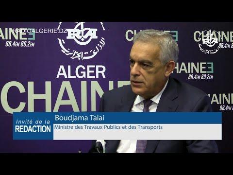 Boudjama Talai Ministre des Travaux Publics et des Transports