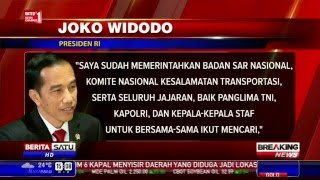 Komentar Jokowi Terkait Hilangnya AirAsia