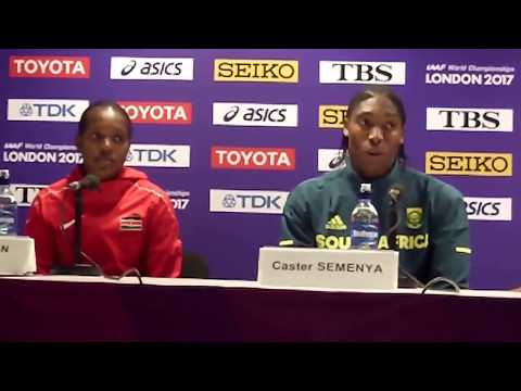 Caster Semenya talks about moving up to the 1500