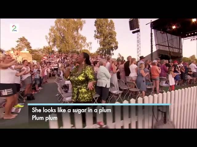 Boney M  ~ Brown Girl In the Ring ~   Allsang på Grensen 2014