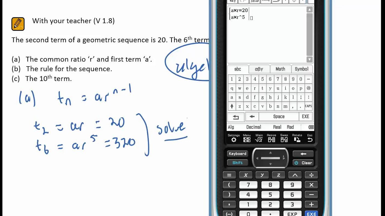 S s 18 geometric sequences finding a r rule etc from two s s 18 geometric sequences finding a r rule etc from two terms biocorpaavc Images