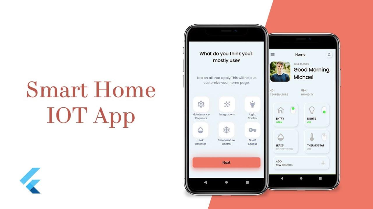 Smart Home IOT App UI- Part 2 - Flutter UI - Speed Code
