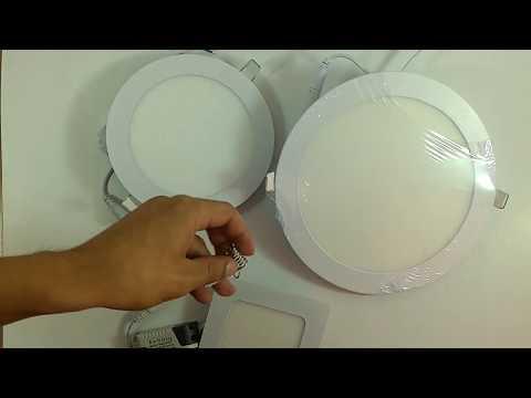 Потолочные светильники 6, 12 и 18 Вт. Тест/демонстрация 🙄