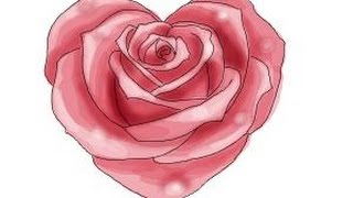How to draw a Heart Rose
