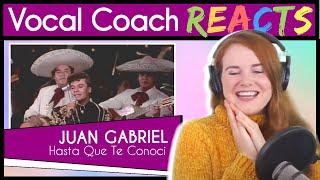 Vocal Coach reacts to Juan Gabriel - Hasta Que Te Conocí (En Vivo Live)