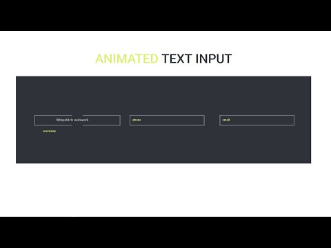 Animated Input - CSS & HTML Only