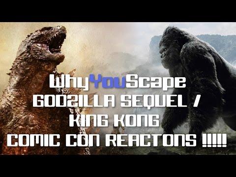 Godzilla Sequel / King Kong Comic Con Reactions!!!