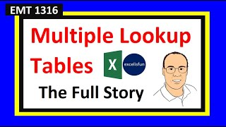 Excel Magic Trick 1316: VLOOKUP with Multiple Lookup Tables: IF, INDIRECT, SWITCH, IFS, or CHOOSE?