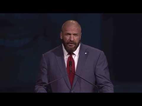 Triple H gives hilarious & inspiring speech
