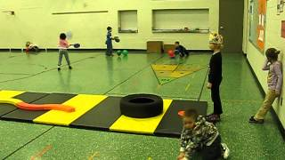 PE Obstacle Course for Kindergarten