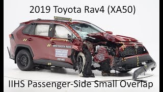 2019-2020 Toyota Rav4 IIHS Passenger-Side Small Overlap Crash Test