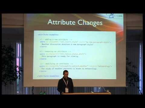 Robin La Fontaine et al. (DeltaXML Ltd): Representing Change Tracking in XML Markup