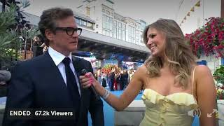 Funny Colin Firth Confesses He Loves To Sing and Dance/Mamma Mia 2 premiere London