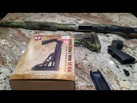 ATI Adjustable Buttstock And Pistol Grip For 12 Gauge Shotgun