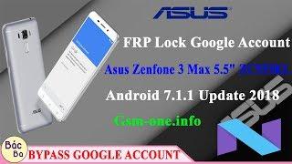 FRP Lock Google Account Asus Zenfone 3 Max 5.5