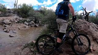 Hawes with the new Hero 7 Mountain Bike Test Day