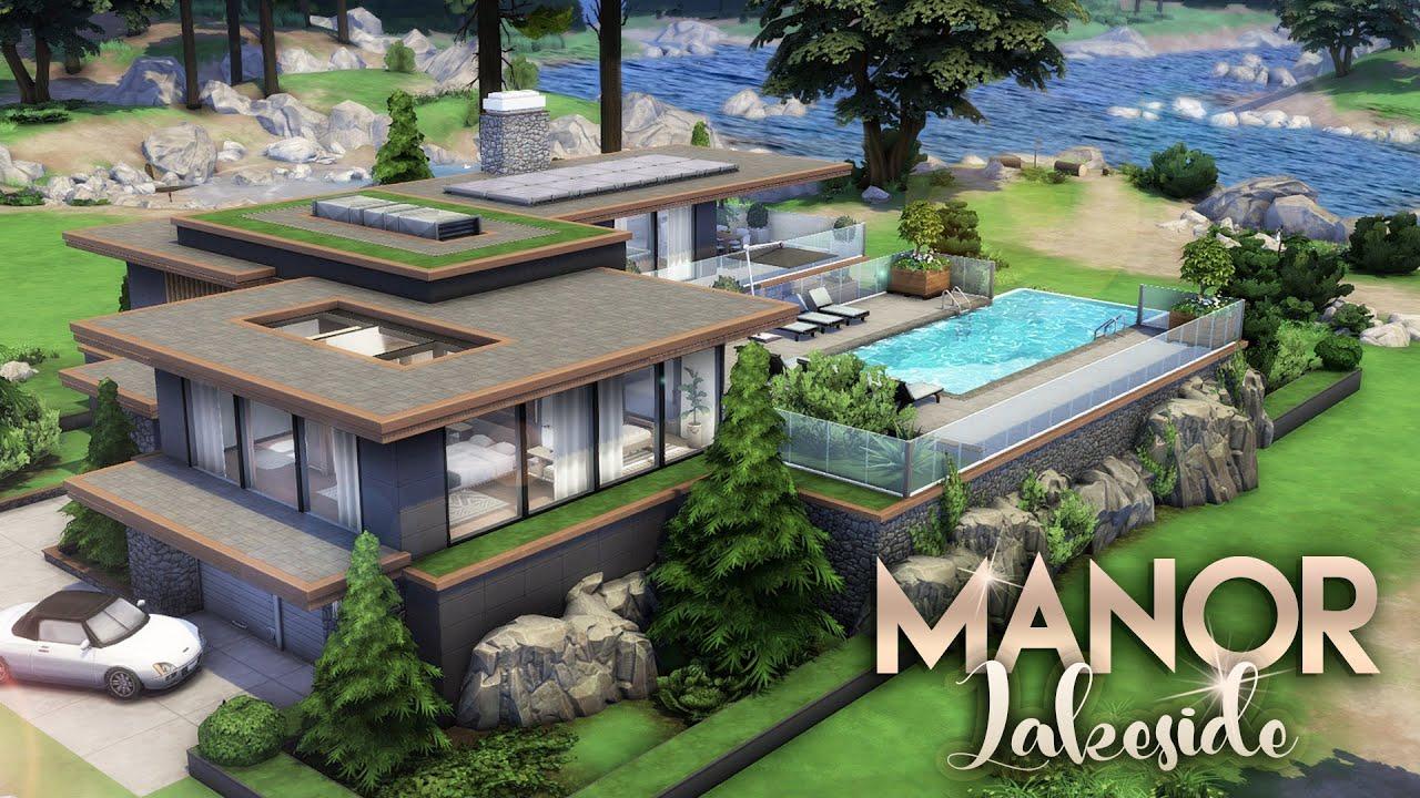 LAKESIDE MANOR [NO CC] || 3 Bdr + 3 Bth Luxury Estate || The Sims 4: Granite Falls Speed Build