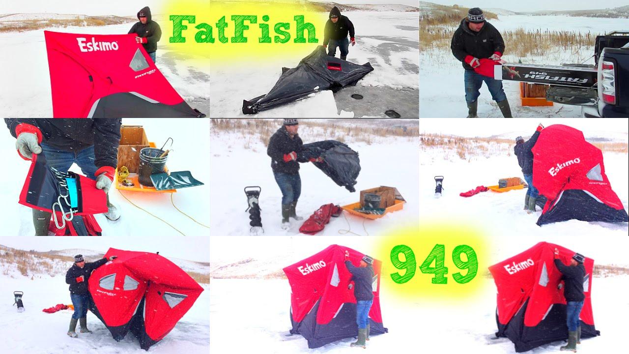 Eskimo FATFISH 949 Unboxing, First Use, SetUp