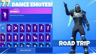 *NEW* ROAD TRIP Skin with 77 DANCE EMOTES! Fortnite Battle Royale