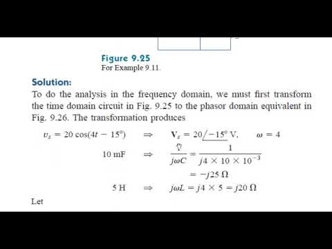 Kirchhoff's Laws in the Frequency Domain Lecture 4 2 Tutoria