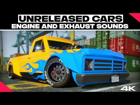 GTA Online All Unreleased Cars Engine And Exhaust Sounds