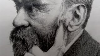 Alfred Nobel Time Lapse Pencil Drawing