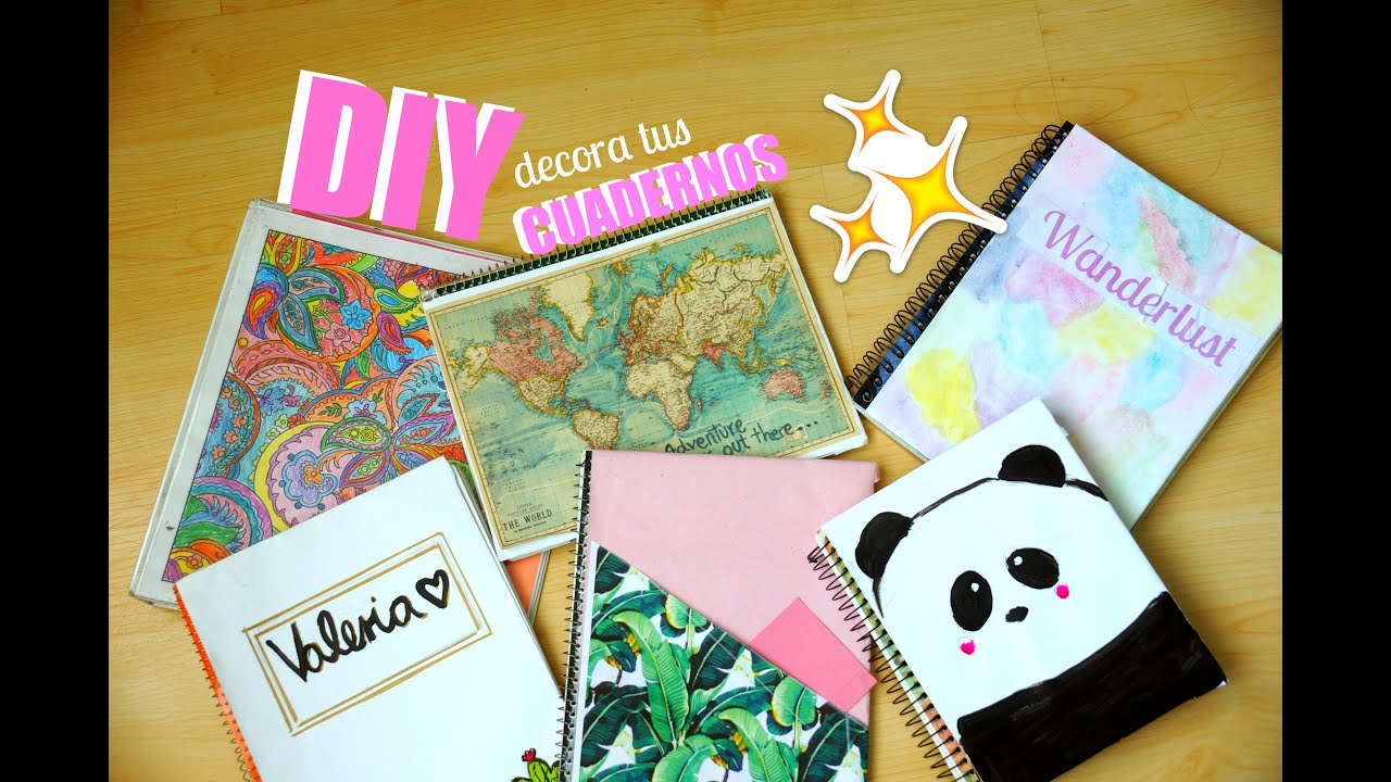 Diy 6 ideas f ciles para decorar tus cuadernos youtube for Ideas y mas decoracion