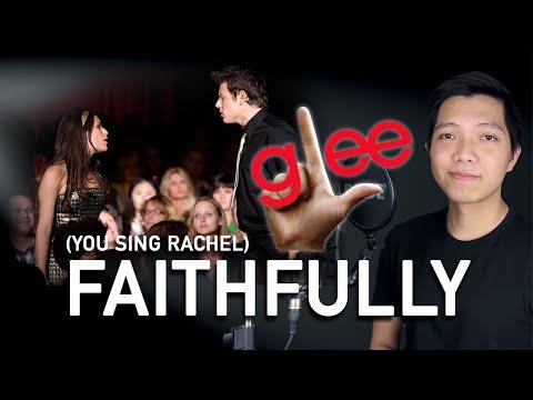 Faithfully (Finn Part Only - Karaoke) - Glee