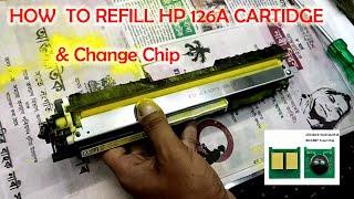 How to Refill HP CP1025 Toner Cartridge HP 126A Hindi