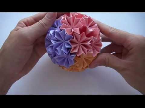 Как сделать Кусудаму оригами | Кусудама Супер шар | Украшения из бумаги своими руками | Origami