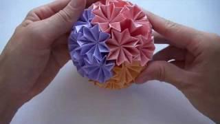 Repeat youtube video Кусудама супершар оригами